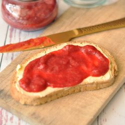 Keto Marmelade Erdbeer-Rhabarber